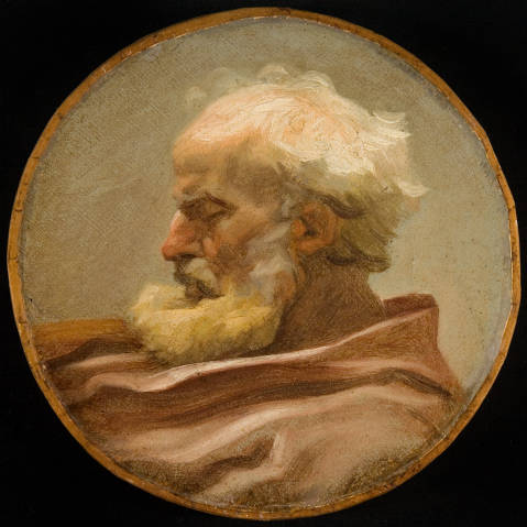 Head of an Old Man in Profile