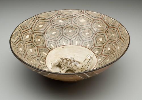 Large Bowl with Lizard (Mucawa)